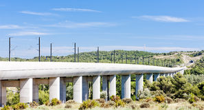 Railway viaduct for TGV Royalty Free Stock Photos