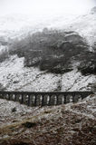 Railway viaduct in winter Stock Photos