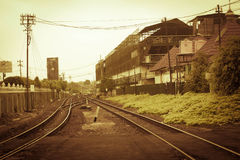 A railway with vintage style at jogja yogyakarta indonesia. Java Stock Images