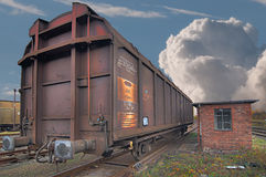 Railway wagon Royalty Free Stock Image