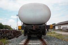 Railway wagon oil tanks standinga at lampang Royalty Free Stock Image