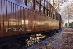 Railway wagon in Soller. Balearic islands. Spain Stock Photo