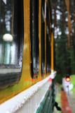 Railway wagon under rain Stock Photography