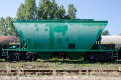 Grain Hopper Wagons. A hopper car US or hopper wagon UIC royalty free stock images