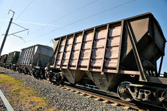 Railway wagons royalty free stock image