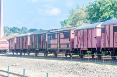 Railway wagons Stock Image
