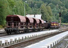 Railway wagons Royalty Free Stock Photography