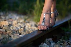 Railway walk Stock Photography