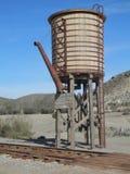 Railway Water Tower. Woodden Railway Water Tower in Fort Bravo Film Set, Tabernas Desert, Almeria, Spain Stock Images