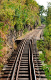 Railway west line in thailand Royalty Free Stock Image