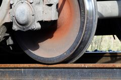 Railway  wheel  metal Royalty Free Stock Photography