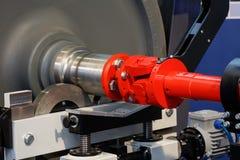 Railway wheel repair run-in drive alignment Royalty Free Stock Images