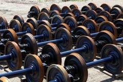 Railway wheels Stock Image