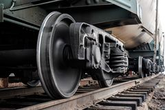 Railway wheels Royalty Free Stock Photos