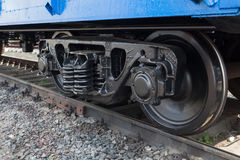 Railway wheelset close up Stock Image