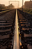 Railway Whit Sunsine Royalty Free Stock Photography