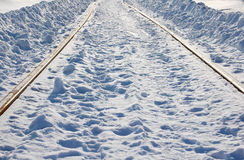 Railway at winter Stock Photography