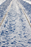 Railway at winter Royalty Free Stock Photos