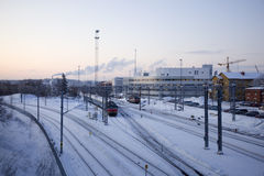 Railway In Winter Stock Image