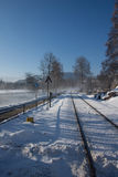 Railway in winter Stock Image