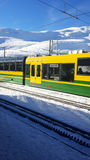 Railway. In the winter time stock photos