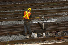 Railway worker Stock Image