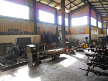 Railway workshop Stock Photo
