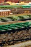 Railway yard. Freight cars on a railway yard Royalty Free Stock Photos