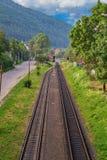 Railway in Yaremcha Royalty Free Stock Photos