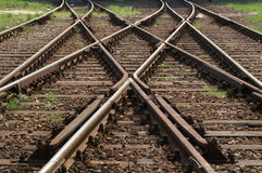 Railways. Crosing railways royalty free stock photo