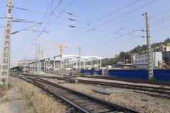Railways of amoy station. China Stock Photo