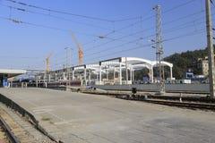 The railways of amoy station. China Royalty Free Stock Image