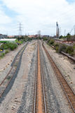 Railways in an industrial area Stock Images