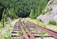 Railways in nature Stock Photos