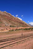 Railways near Aconcagua  Royalty Free Stock Image
