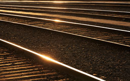 Railways with sheens on the rails. Stock Photography