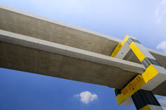 Railways and sky train structure construction Royalty Free Stock Photography
