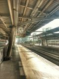 Railways station. Morning on railway station in bangkok Stock Photography