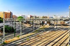 Railways Stations Royalty Free Stock Photo