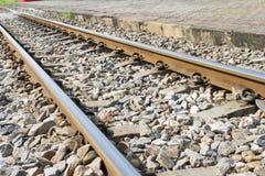 Railways stones background Royalty Free Stock Photo