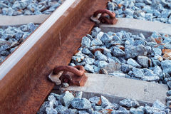 Railways system. For diesel train platform Royalty Free Stock Image