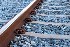 Railways system for diesel train platform. Transportation Royalty Free Stock Image