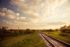 Railways to horizon Royalty Free Stock Images