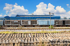 Railways track and land  transport in industry estate Royalty Free Stock Images