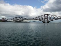 Railways. Train bridge by the Forth Bridge in Scotland Royalty Free Stock Image