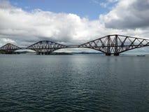 Railways. Train bridge by the Forth Bridge in Scotland royalty free stock image