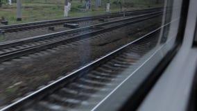 Railways from the Train Window. The railways from the train window stock video footage