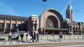 Railwaystation i Finland Helsingfors Helsingfors Arkivfoto