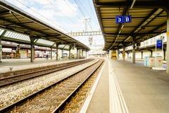 Railyard在瑞士- HDR 免版税库存图片