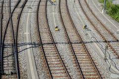 Railyard в Женеве Стоковая Фотография